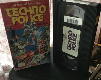 Robot Techno Police anime Toho animated movie vhs