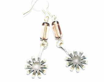 Charm crystal flower women earrings