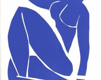 """Henri Matisse """"Nu bleu 3""""  printed 1983 -f"""