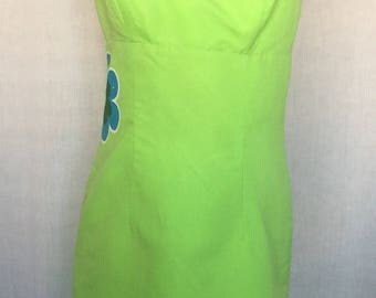Reversible 90's strapless dress