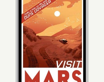 20% OFF SALE WOW Visit Mars Space Poster