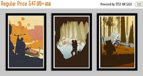 20% OFF SALE WOW Star Wars Original Trilogy Poster Collection