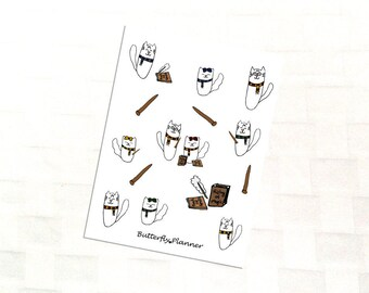 Tiggero Wizard Deco Sticker Sheet for Your Planner