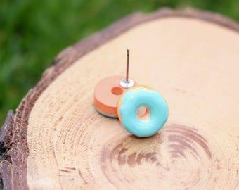 Donut Earrings   Food Earring   Donut Stud Earrings   Hypoallergenic Studs   Titanium Earrings   Food Stud Earrings   Kawaii Studs