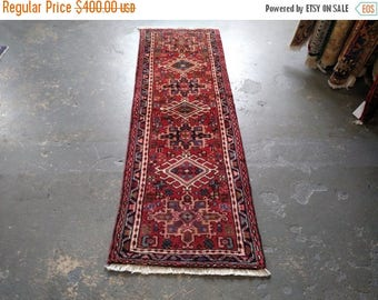 SUMMER CLEARANCE Persian Rug - 1990s Hand-Knotted Karaja Persian Rug Runner (3586)