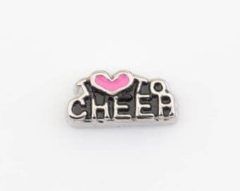 Cheerleader Love to Cheer Floating Charm-Living Memory Lockets & Necklaces