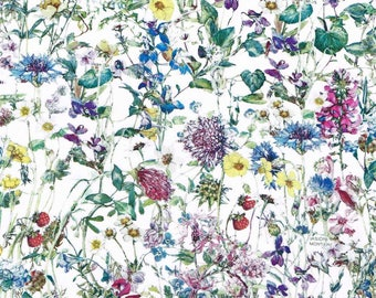 Wild Flowers A - Liberty London Tana Lawn Fabric