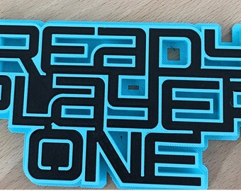 Ready player one logo plaque