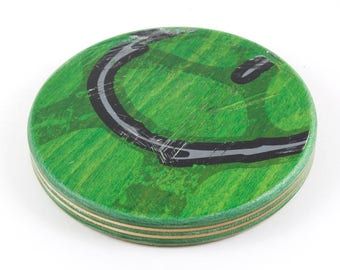 Recycled Skateboard Round Drink Coaster