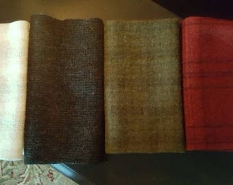 Rug Hooking/Applique Wool Bundle--Prim Christmas