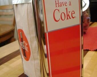 Vintage Coke Napkin Dispenser, Collectible Restaurant Ware, Advertising