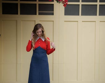 Vintage Collared Maxi Dress