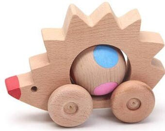 Hedgehog, wooden toys, kids toy, wood toy, animal toy, wooden animal, toddler toy, kids animal toy, waldorf toy,  educational toy