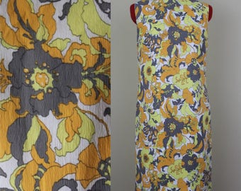 Psychedelic Poppy Dress || 1960s || Size Small || Size 4 || Retro Day Dress