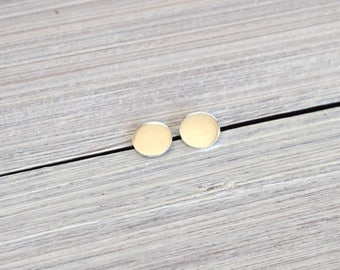 Small sterling silver studs, round stud earrings, silver dot, minimalist,