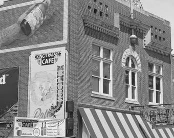 Beale Street in Black and White, 8 x 10 Black and White, Fine Art Photograph of Beale Street, Memphis Musid