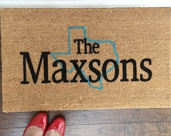 State Customized Coir Doormat, Customized Doormat,  Handpainted Doormat, Doormat, Custom Doormat, custom Mat, Custom Rug, Handpainted Mat