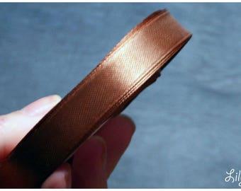 1 meter of Ribbon in Brown caramel satin 12mm