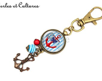 Keychain cabochon sailor anchor ღLove ღ ღ ღ star holiday bow turtle