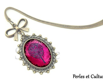 Pink black Butterfly bookmark, book ღcabochon magiqueღ tree jewelry