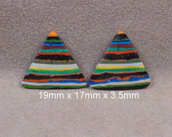 RAINBOW CALSILICA Cabochons Matched Pair Set of 2