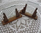 Vintage Pair of Art Deco Wooden and Glass Picture Frames
