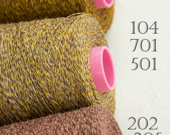 Melange yarn on cone- 100% linen yarn - total 1.5kg / 52.5oz 3 mixed colors
