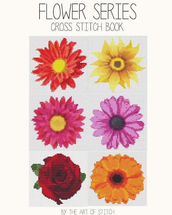 Cross Stitch Pattern PRINTED Set Flower Series - Floral Cross Stitch (Book02)