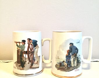Collectible Norman Rockwell Mugs