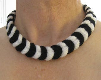 Hand-braided necklace