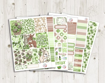 Clover Vertical Weekly Kit - ECLP, TN, Personal, Happy Planner Stickers
