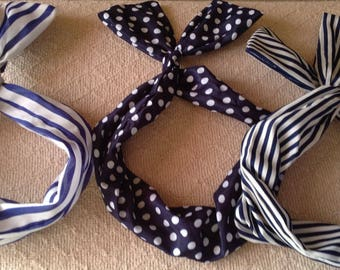 Dolly Bow, Retro style wire headbands, rockabilly and pinup hair accessories