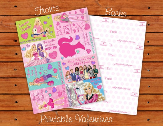 Classroom Valentines Design ~ Barbie valentine set different designs printable