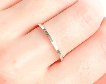 Thick Silver Ring, Silver Stacking Ring, Thick Silver Band, 925 Sterling Silver Ring