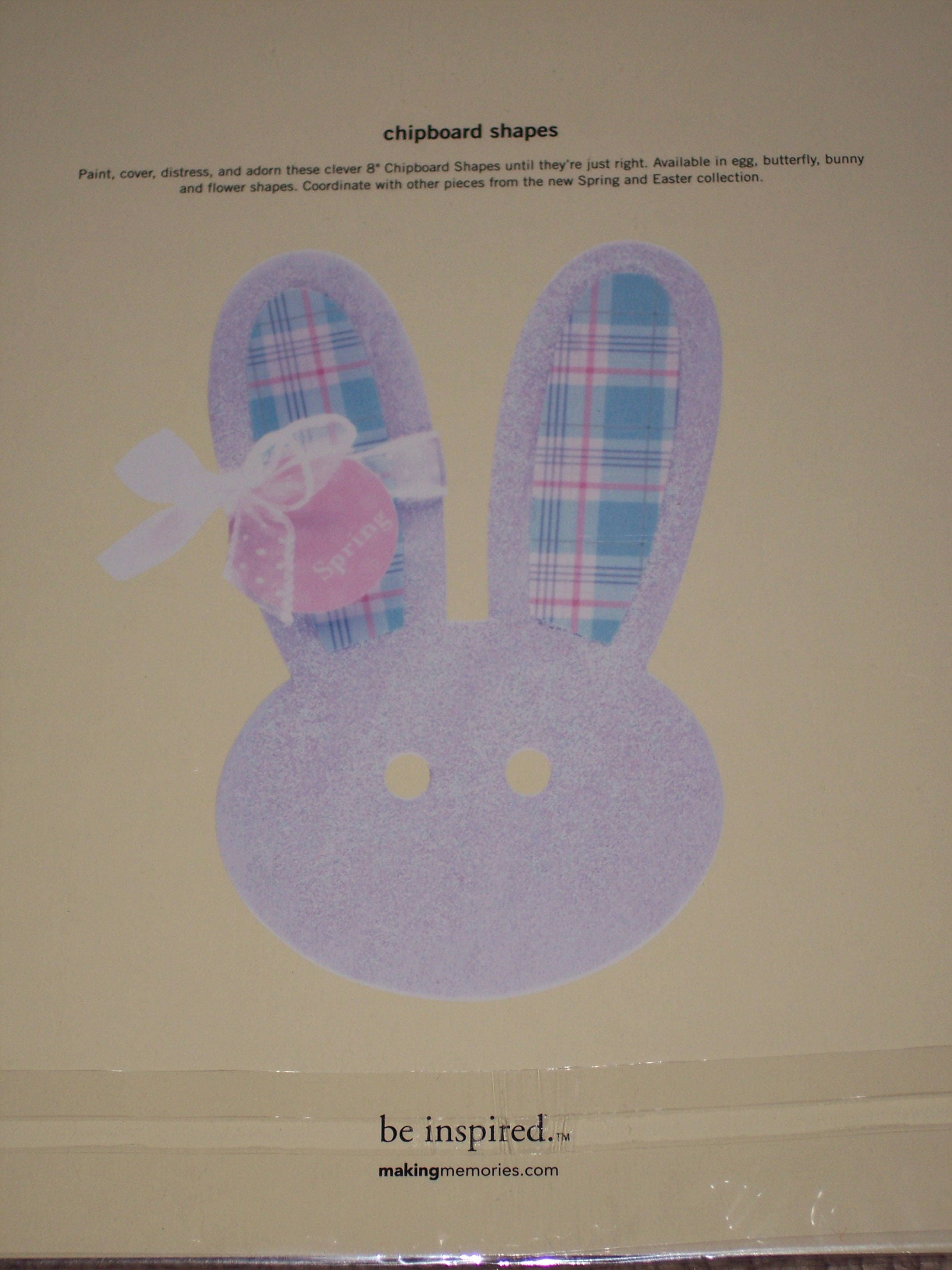 Chipboard Shapes Ideas ~ Easter chipboard shapes egg or bunny face making