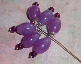 1 x purple charm and bead magic purple