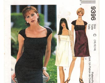 McCall's Sewing Pattern 9396 c.1998 Dress 10-12-14 Uncut / Unused