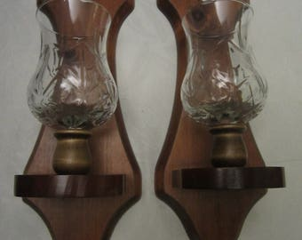 Matching Sconces with Designed Glass Globes