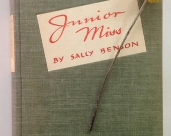 Junior Miss, Sally Benson, 1941 Teen Book, Green  Red