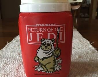 Star Wars 1983  Return of the Jedi Thermos 8 0z. Ewok