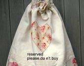Laundry bag Clothes bag Vintage bag Decorative Shabby Chic Bag Home Decoration