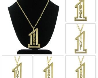 Melanie Mary Patricia Susie Joy Name Pendant Necklace Gold Tone Jewelry Vintage