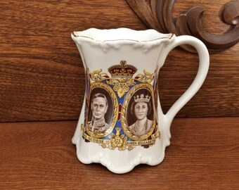 KING GEORGE VI & Queen Elizabeth Coronation Mug - 1937 King George Queen Elizabeth Mug - Royalty Mug