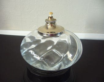 Oil Lamp - Handmade by SEA of Sweden - Clear Glass and Stainless Steel Oil Lamp - Scandinavian Design