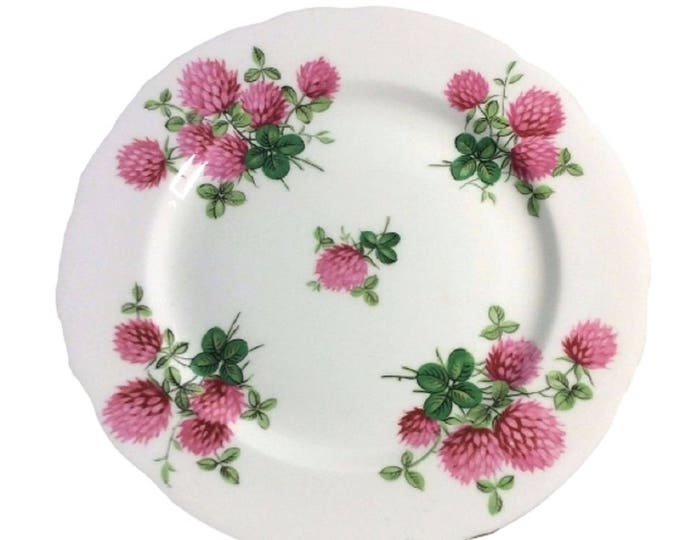 Hammersley Bone China Salad Plate - Rosy Pink Clovers - Replacement Dish