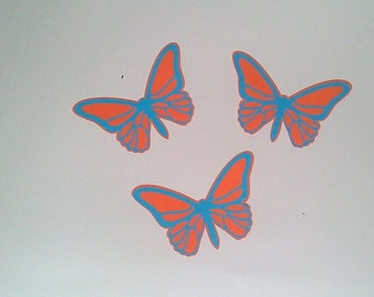 """Small """"The Butterfly"""" orange and blue"""