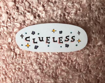 cute hand-drawn clueless sticker