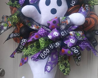 RESERVED - Ghost Halloween Wreath