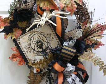 Spider Halloween Wreath