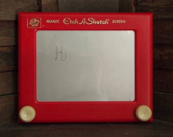 Vintage Ohio Art Magic Etch A Sketch Drawing Toy | Made in USA